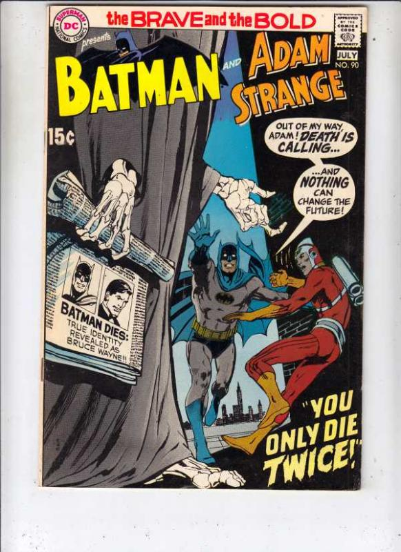 Brave and the Bold, The #90 (Jul-70) FN/VF+ High-Grade Batman, Adam Strange