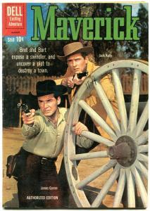 Maverick #14 1961- Dell Western- James Garner Jack Kelly FN