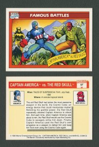 1990 Marvel Comics Card  #97 (Captain America/Red Skull) / NM-MT+