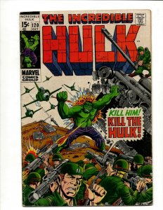 Incredible Hulk # 120 FN/VF Marvel Comic Book Iron Man Captain America Thor BJ1