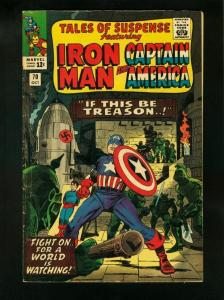 TALES OF SUSPENSE #70 1965-ALTERNATING COVERS BEGIN-CAPTAIN AMERICA- VG+ VG+