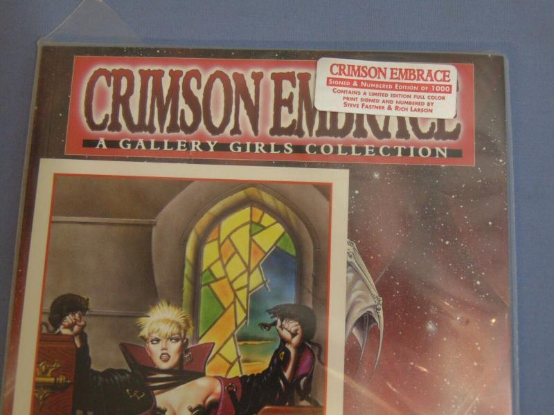 Crimson Embrace Gallery Girls + Signed Ltd Ed. Print Steve Fastner & Rich Larson