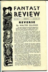 Fantasy Review #5 1947-elusive- British-pulp sci-fi fanzine-rare-VG