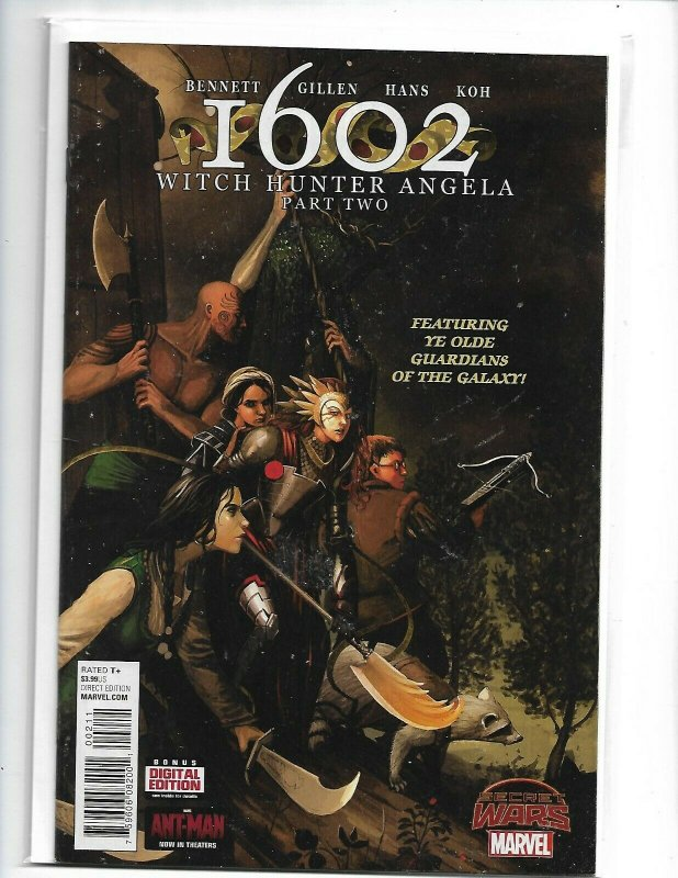 1602 Witch Hunter Angela #1 in Near Mint condition. Marvel comics nw112