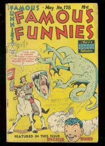 FAMOUS FUNNIES #178 1949-BUCK ROGERS-SCORCHY SMITH-DARE VG