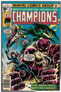CHAMPIONS 13 VG+ May 1977 Hercules, Black Widow, Angel