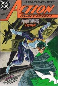 DC ACTION COMICS (1938 Series) #613 VF