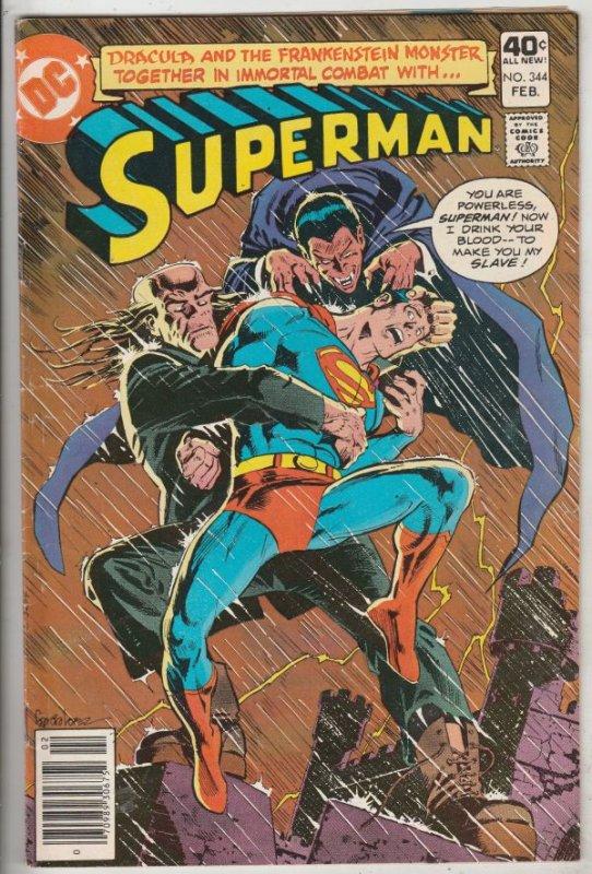 Superman #344 (Feb-80) VF High-Grade Superman