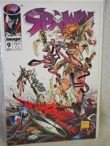 Spawn #9 in VF/NM condition. Unread . 1993. First Angela!