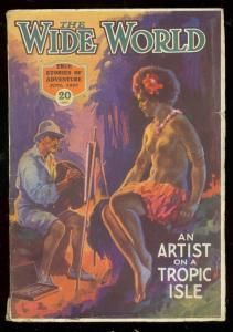 WIDE WORLD PULP JUNE 1925-NUDE COVER-EXPLORATION FN