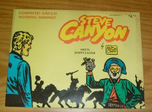 Steve Canyon TPB 2 FN meets happy easter - milton caniff - comic art 1977 book