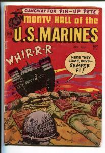 MONTY HALL OF THE U.S. MARINES #6 1952-TOBY-PIN UPS-KOREAN WAR-vg minus