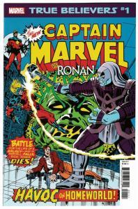 True Believers Captain Marvel vs Ronan #1 (Marvel, 2019) NM