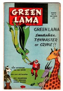 GREEN LAMA #8 comic book-1946-SPARK-WWII-MAC RAYBOY-LT HERCULES vg
