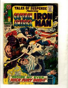 Tales Of Suspense # 92 VG- Marvel Comic Book Iron Man Captain America Fury GK2