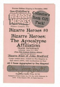 Bizarre Files of John Bradford (Bizarre Heroes) VF/NM signed by Don Simpson 1995