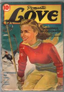 Romantic Love 1/1941-pin-up girl portrait cover-spicy pulp thrills-Pre WWII-VG