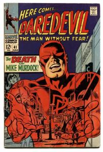 DAREDEVIL #41 1968-MARVEL COMICS-DEATH MIKE MURDOCK fn-