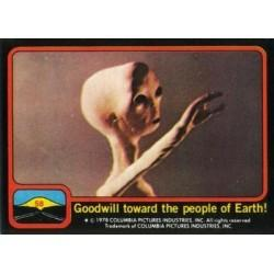 1978 Topps Close Encounters Of The Third Kind GOODWILL TOWARD THE PEOPLE OF EART