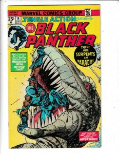 JUNGLE ACTION FEATURING THE BLACK PANTHER#14 FN/VG  MARVEL COMICS