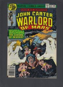 John Carter Warlord of Mars #22 (1979)