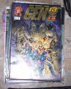 GEN 13  3D special #1 with glasses   JIM LEE BRANDON CHOI  1997 IMAGE art adams