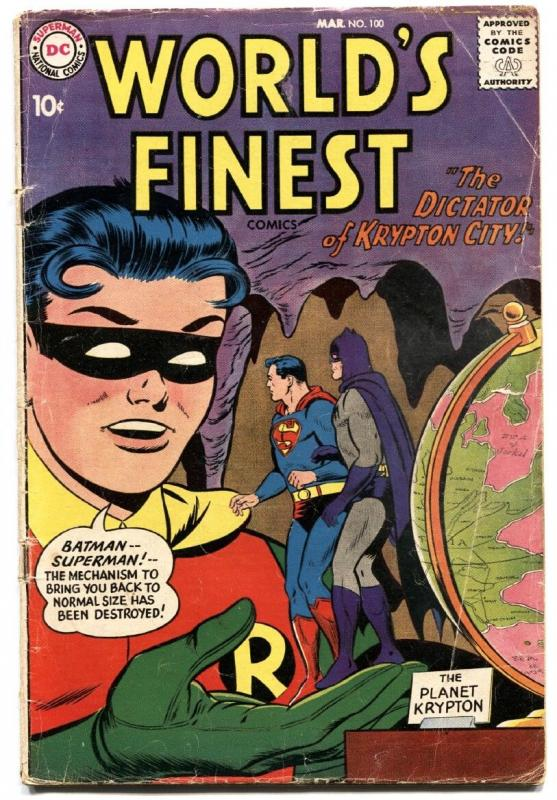 WORLDS FINEST #100 1959 DC SUPERMAN BATMAN ROBIN