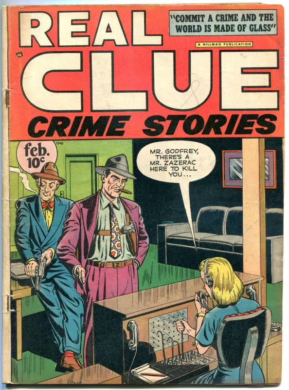 REAL CLUE CRIME STORIES V2 #12, VG, Electric Chair, 1947, Golden Age, Pre-code