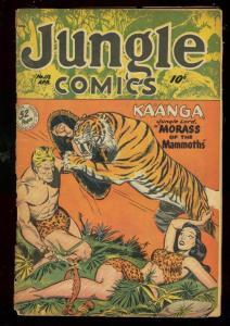 JUNGLE COMICS #112 1949-KAANGA-SPICY TIGER COVER-TABU FR/G