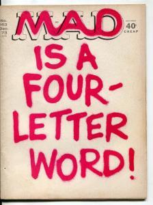 MAD Magazine #163 1973-Martin-Berg-Drucker--VG
