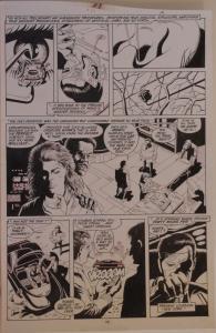 PAUL GULACY original art, MARVEL COMICS PRESENTS #31 pg 19, 11x16, Coldblood