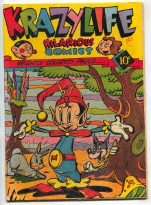 Krazylife #1 1945- Rare Fox Funny Animals Comic VG+