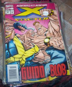 X-Factor # 107 oct 1994 marvel  +  strong guy vs blob mutants xmen