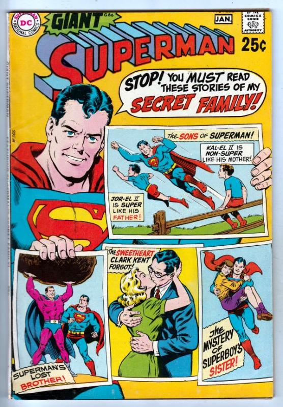 Superman #222 (Dec-69) VF+ High-Grade Superman, Jimmy Olsen,Lois Lane, Lana L...
