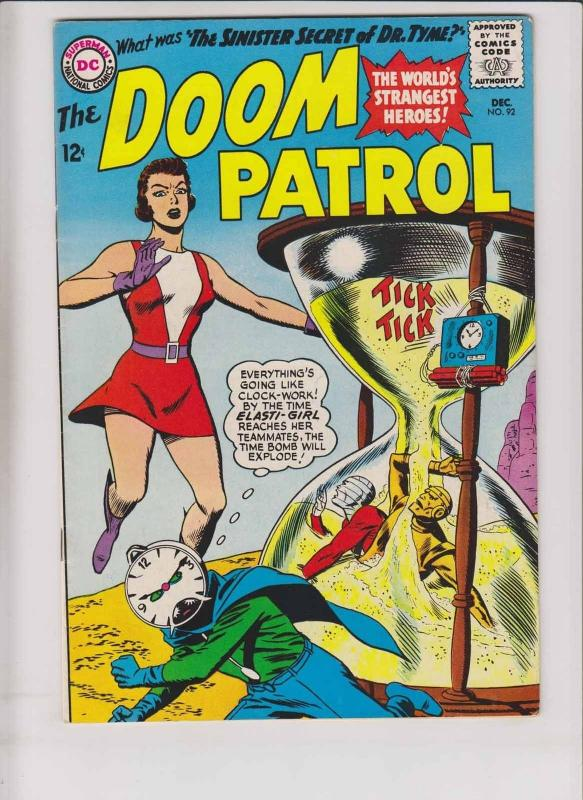 Doom Patrol #92 FN/VF december 1964 - 1st appearance of dr. tyme - hourglass