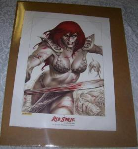 RED SONJA poster / print by Joseph Linsner, 2005, New, unused, ready for a frame
