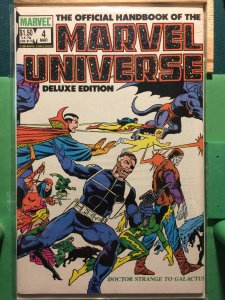 The Official Handbook of the Marvel Universe #4 Deluxe Edition
