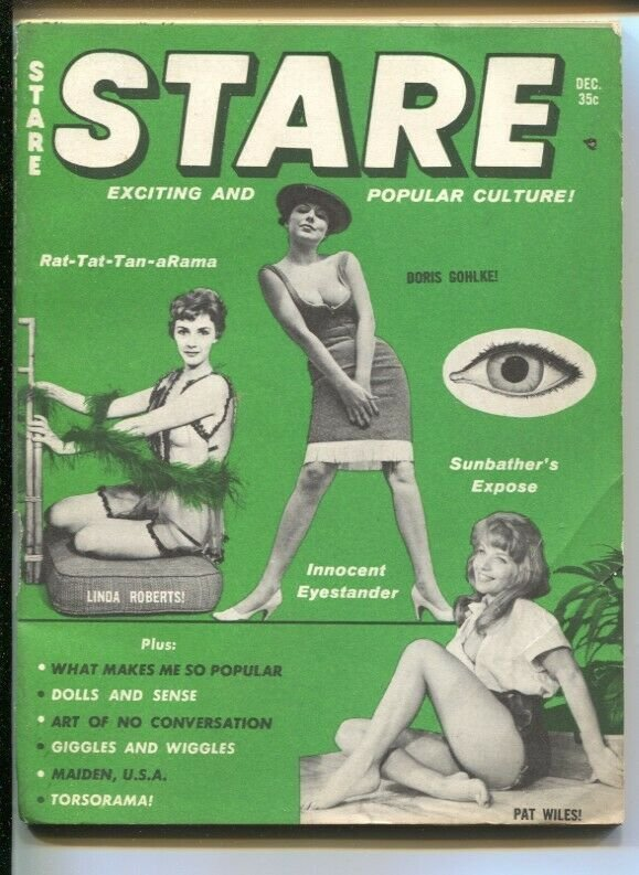 Stare 12/1961-chessecake-pin-up pix-Betty Page-Aldous Huxley-cartoons-VG