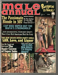 Male Annual #4 1966-Atlas-2nd Pussycat-Bill Ward-LSD-spicy pulp thrills-VG