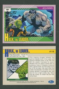 1991 Marvel Comics II  Card  #119 ( Hulk vs Leader )  MINT