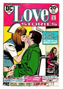 LOVE STORIES #1521973-DC-WHEEL CHAIR-NURSE-FINAL ISSUE-vg