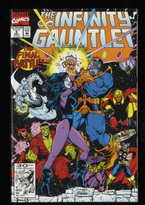 Infinity Gauntlet #6 NM+ 9.6 Thanos!