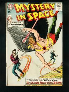 MYSTERY IN SPACE #87 1963-ADAM STRANGE-HAWKMAN-RARE HIGHER GRADE COPY FN+