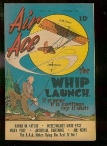 AIR ACE V.2 #11 1945-STREET & SMITH COMICS-WILEY POST- FN