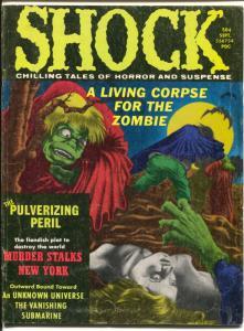 Shock Vol. 3 #6 1971-Stanley-horror comics in mag format-zombies-Nazi terror-VG-