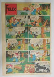 Felix The Cat Sunday Page by Otto Mesmer from 8/6/1939 Size: 11 x 15 inches