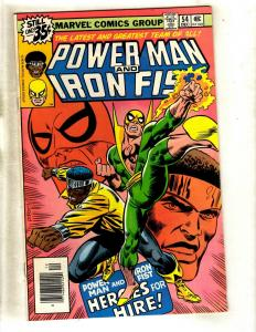 Power Man & Iron Fist # 54 FN/VF Marvel Comic Book Heroes For Hire KEY WS9