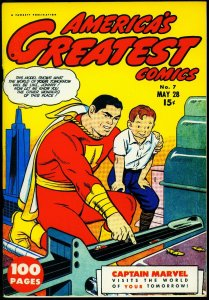 Flashback #32- America's Greatest Comics #7 reprint Captain Marvel VF
