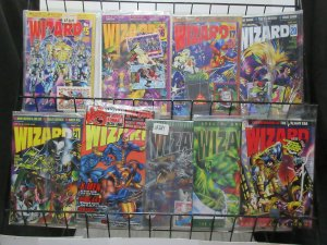 Wizard Magazine Lot of 9Diff from 1992 to 1995 Sealed in Bags with OG Goodies