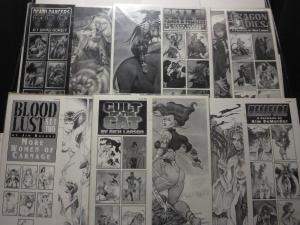 Comic Art Portfolios Lot of 6 11 x 14 B&W 36 prints BAD GIRLS ART Balent etc.